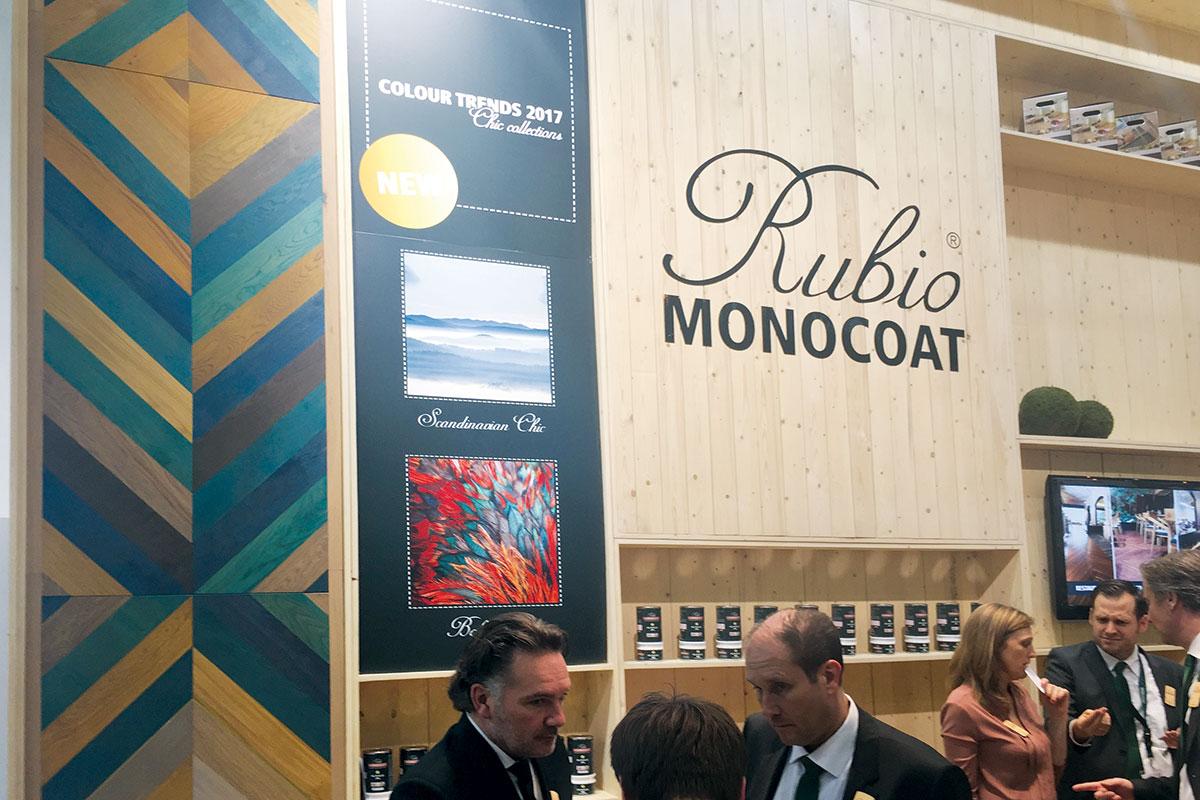Magic Floor doo gost na štandu-Rubio Monocoat kompanije