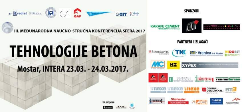 Tehnologije betona - SFERA 2017