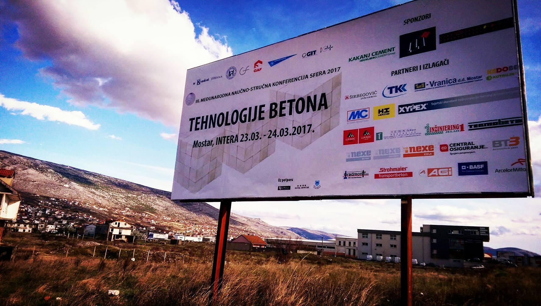 """Međunarodna naučno - stručna konferencija pod nazivom """"Sfera 2017: Tehnologije betona"""""""