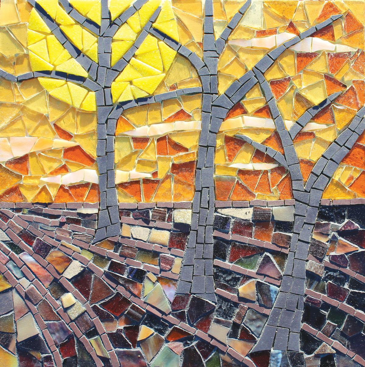 """Sunset Mosaic"" - Autor: Sue Kershaw"