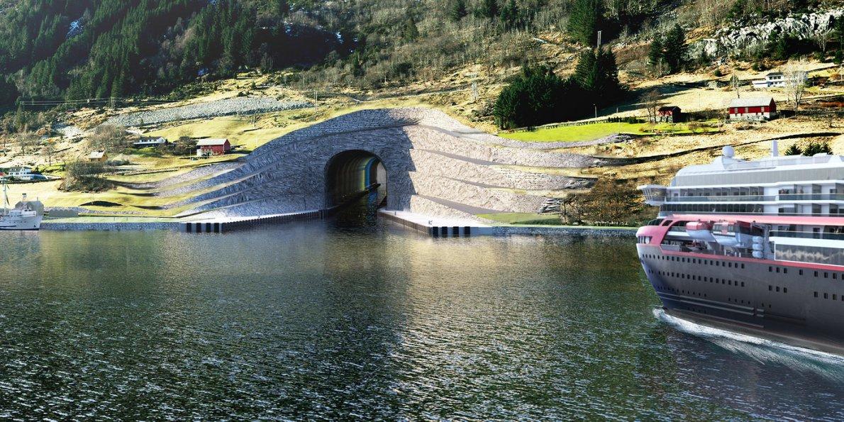 Izgleda najavljenog tunela za brodove u Norveškoj