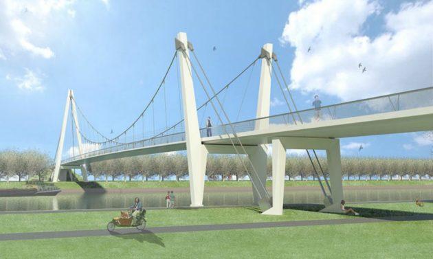 Za razliku od tipičnih usamljenih struktura mostova, ovaj most sastavni je deo urbane strukture Utrehta