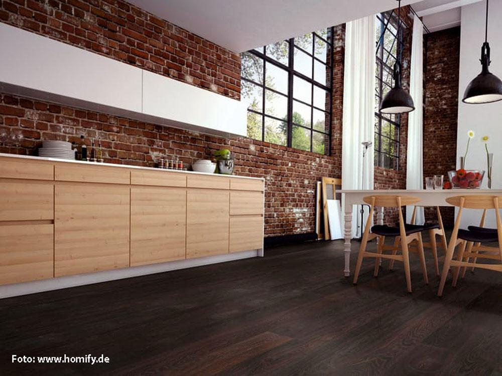 Drveni pod u kuhinji