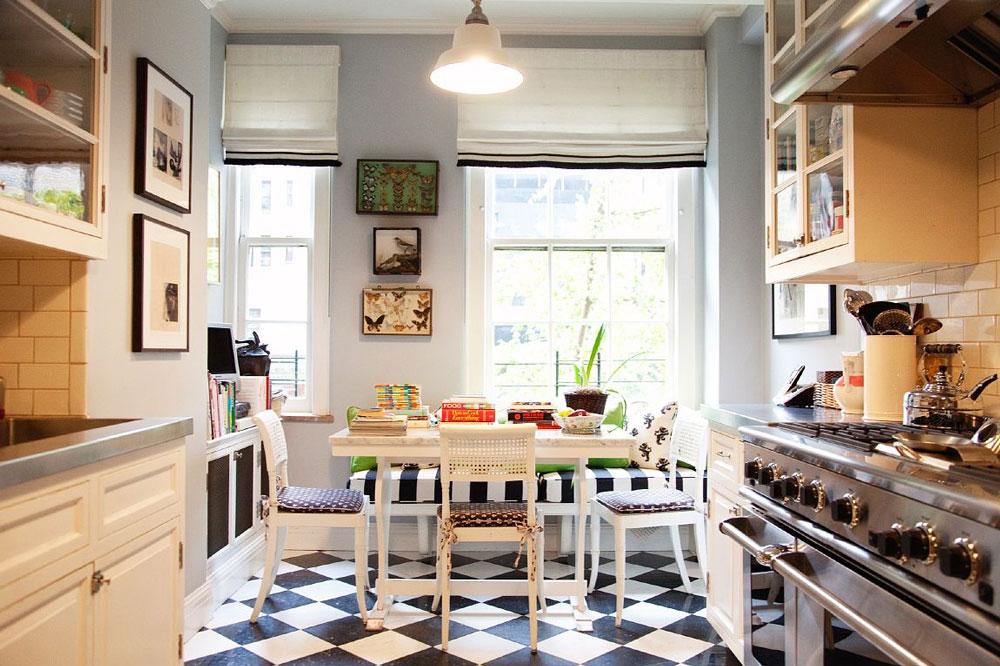 Šahovski pod u kuhinji