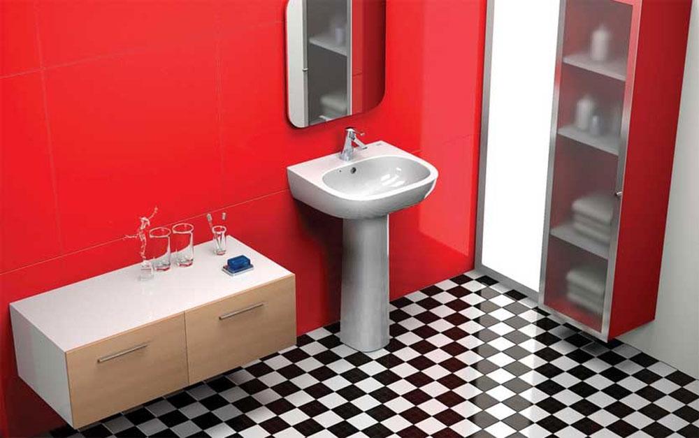 Šahovski pod u kupatilu