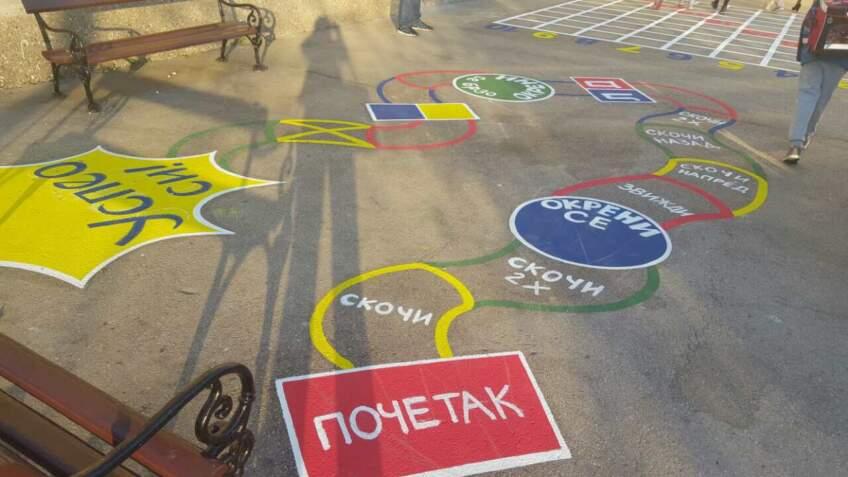 Tikkurila donirala akrilne boje za beton školi u Šapcu