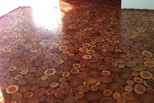 Za kreiranje poda korišćena su dve različite vrste kleke