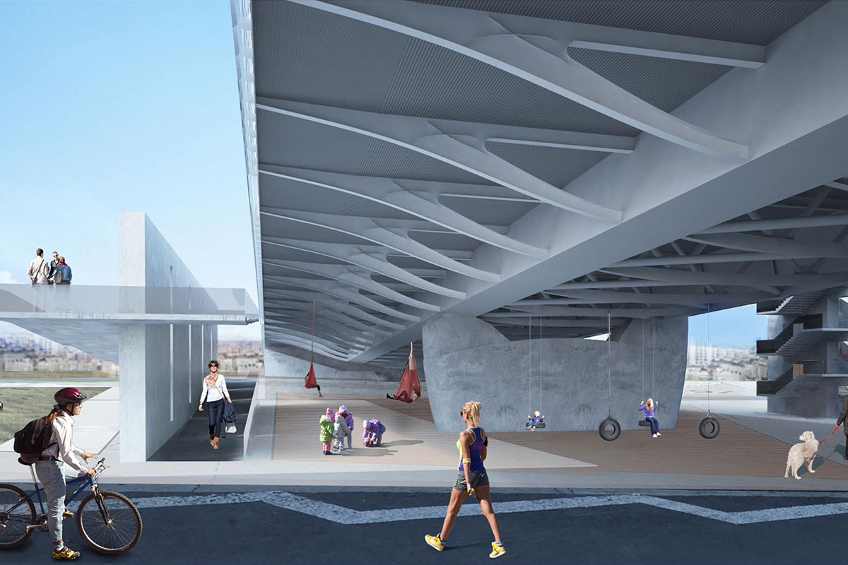 Prostorni prikaz novog mosta na Savi u Beogradu