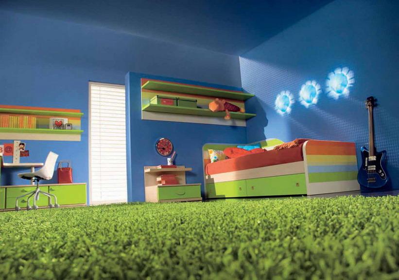 Zeleni tepih u dečijoj sobi