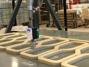 Beton koji se koristi za štampanje mosta je deblji od normalnog