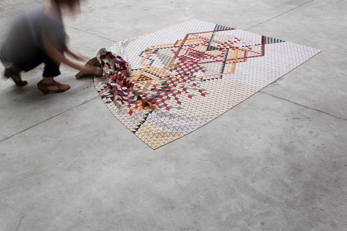 Geometrija od drveta na podu