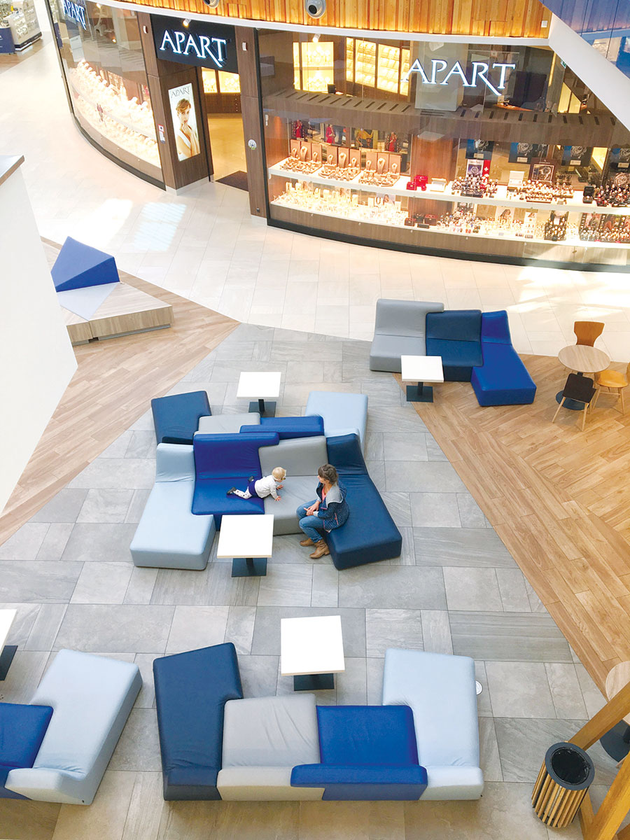 Podne obloge tržni centar, prostor za odmor - kafe-bar