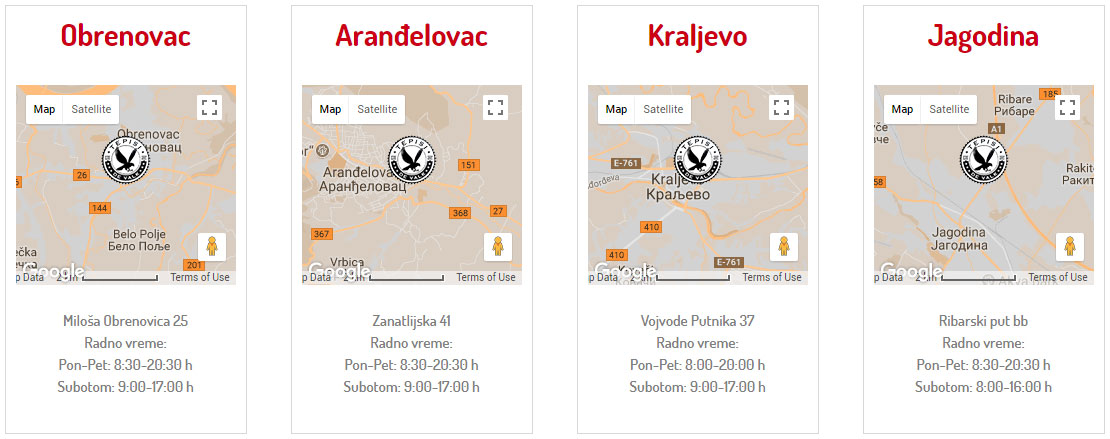 """Tepisi """"DE VALK"""" prodajna mesta Obrenovac, Aranđelovac, Kraljevo, Jagodina"""
