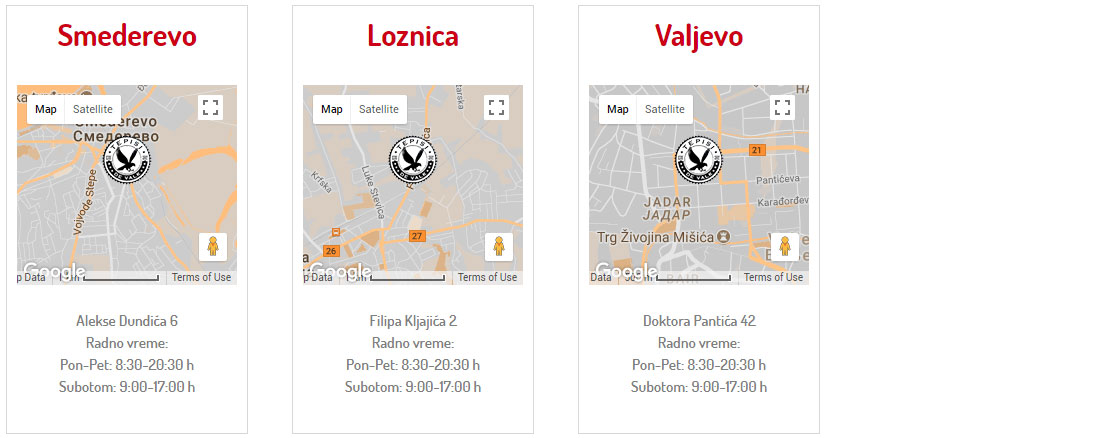 "Tepisi ""DE VALK"" prodajna mesta Smederevo, Loznica, Valjevo"