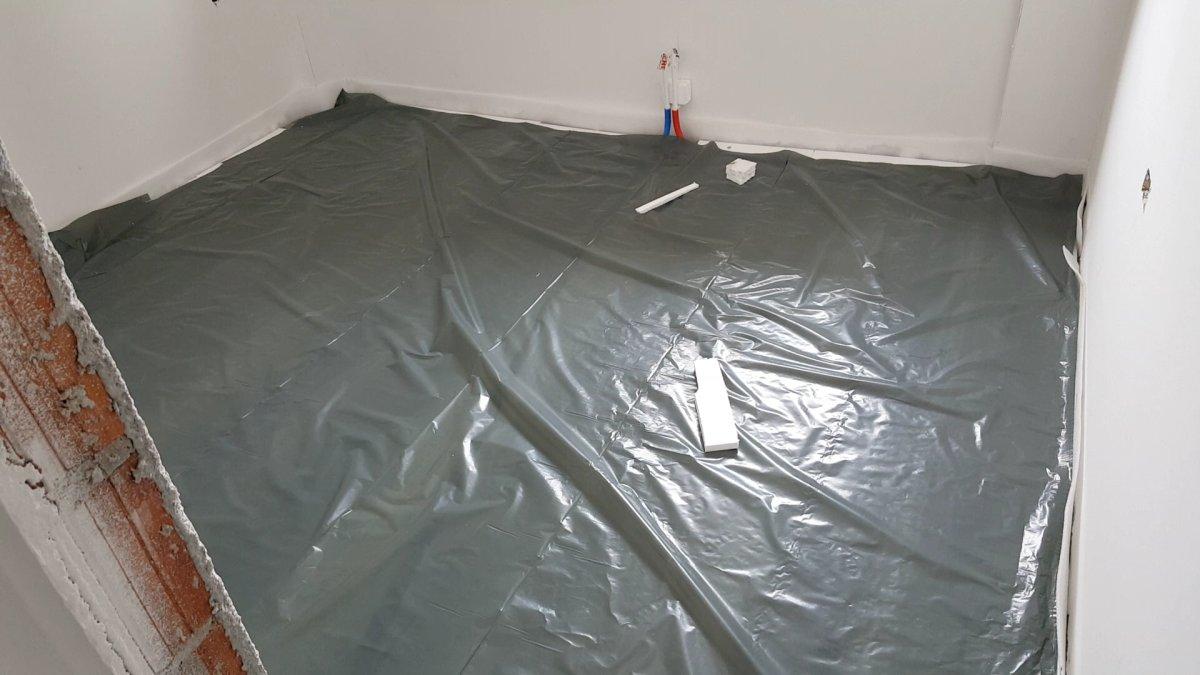 Pod pripremljen za izlivanje cementne košuljice