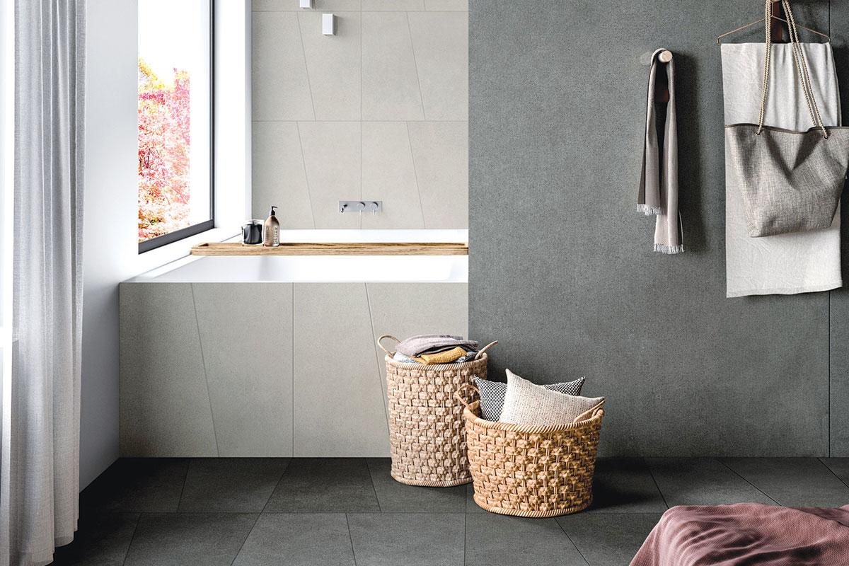 Keramičke pločice u kupatilu, imitacija betona