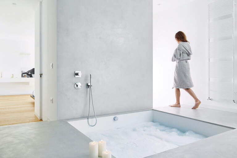 Dekorativne tehnike uređenja enterijera - kupatilo - beton