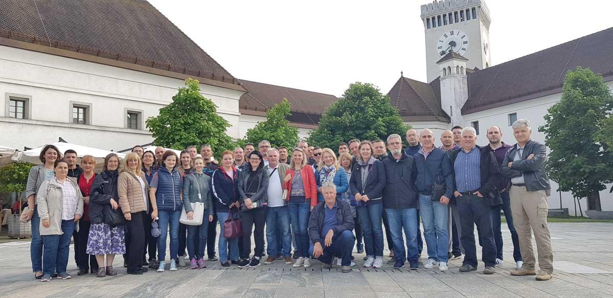 ACO tim sa saradnicima, Ljubljana