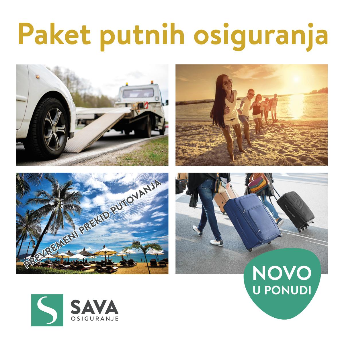 SAVA neživotno osiguranje - paket putnih osiguranja