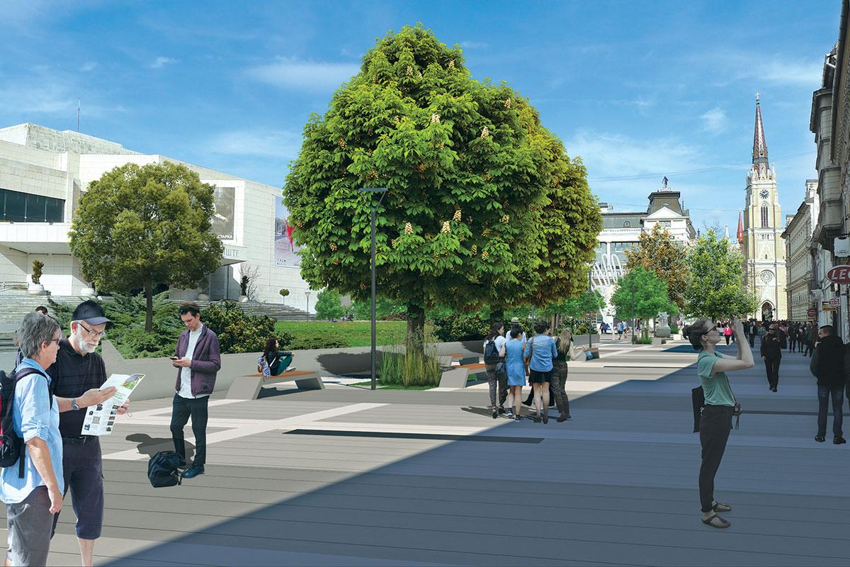 Idejno rešenje uređenja javnih prostora u centru Novog Sada