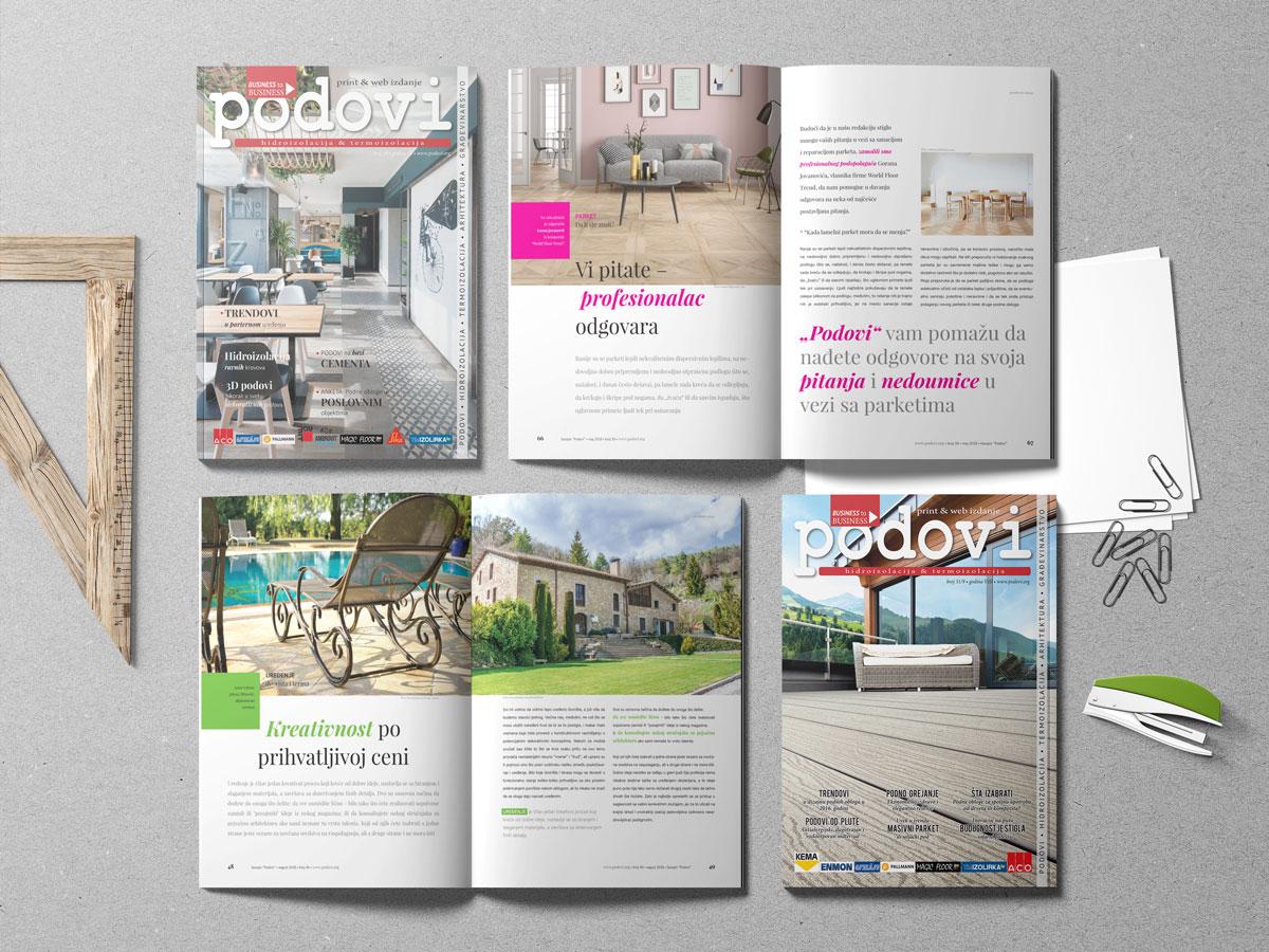 Specijalizovani građevinski časopis PODOVI