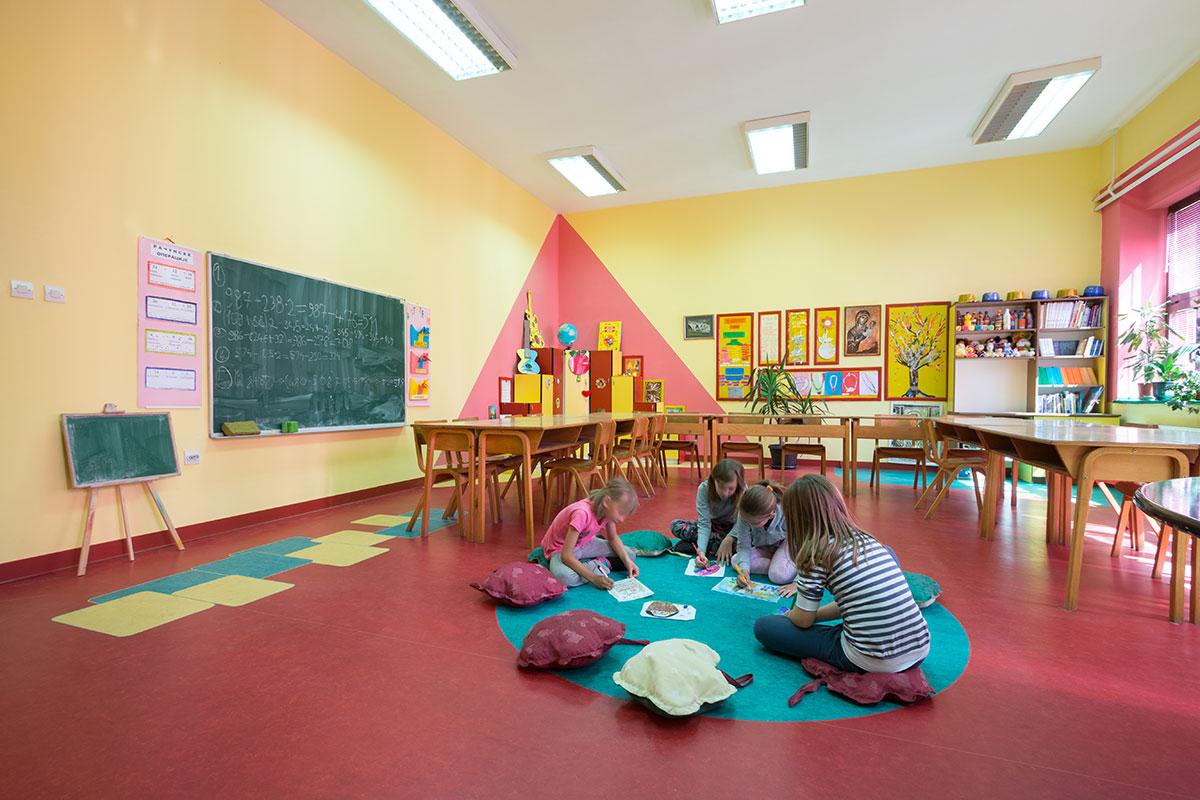 Tarkett linoleum škola Mionica