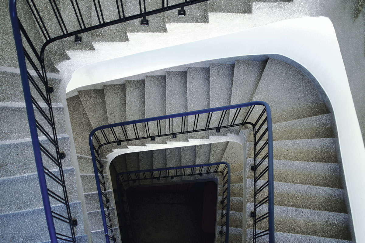 Stepenište rađeno teraco tehnikom