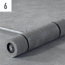 Renoplan sistem 1 PVC podnu oblogu treba prevaljati metalni valjkom Wolff