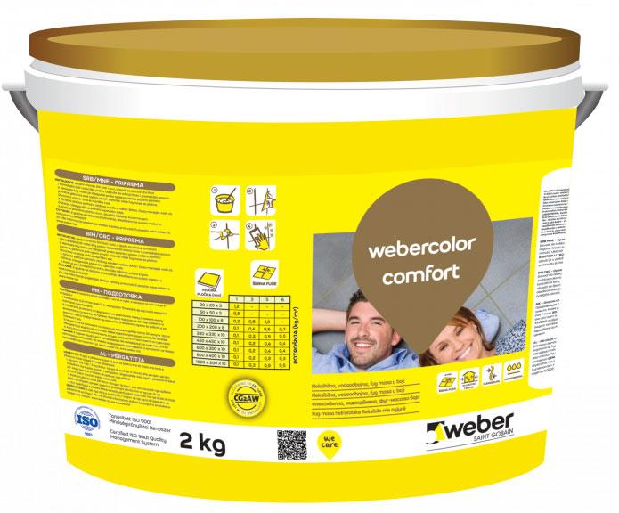 webercolor comfort - kremasta fug masa u boji