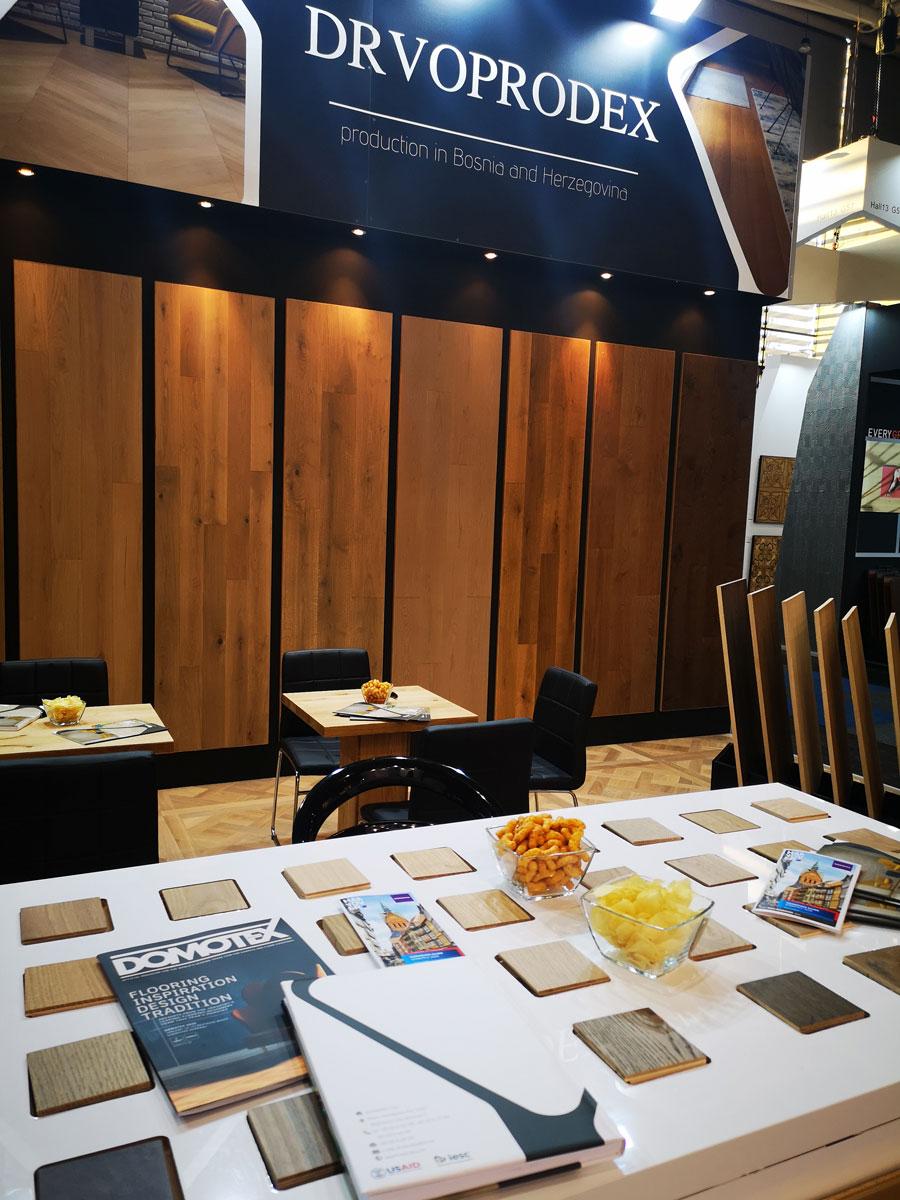 Prezentacija kompanije DRVOPRODEX na sajmu DOMOTEX 2020 u Hanoveru
