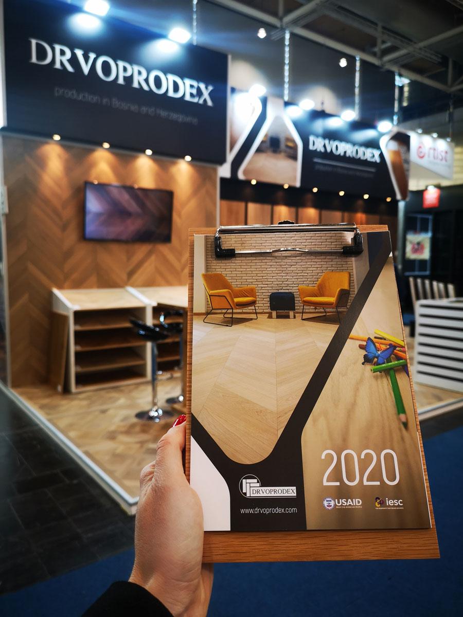 """Drvoprodex je na sajmu """"Domotex 2020"""" predstavio svoje proizvode i usluge uz podršku USAID WHAM projekta"""