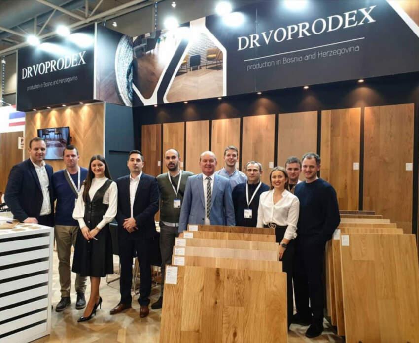 Tim kompanije DRVOPRODEX na sajmu DOMOTEX 2020 u Hanoveru