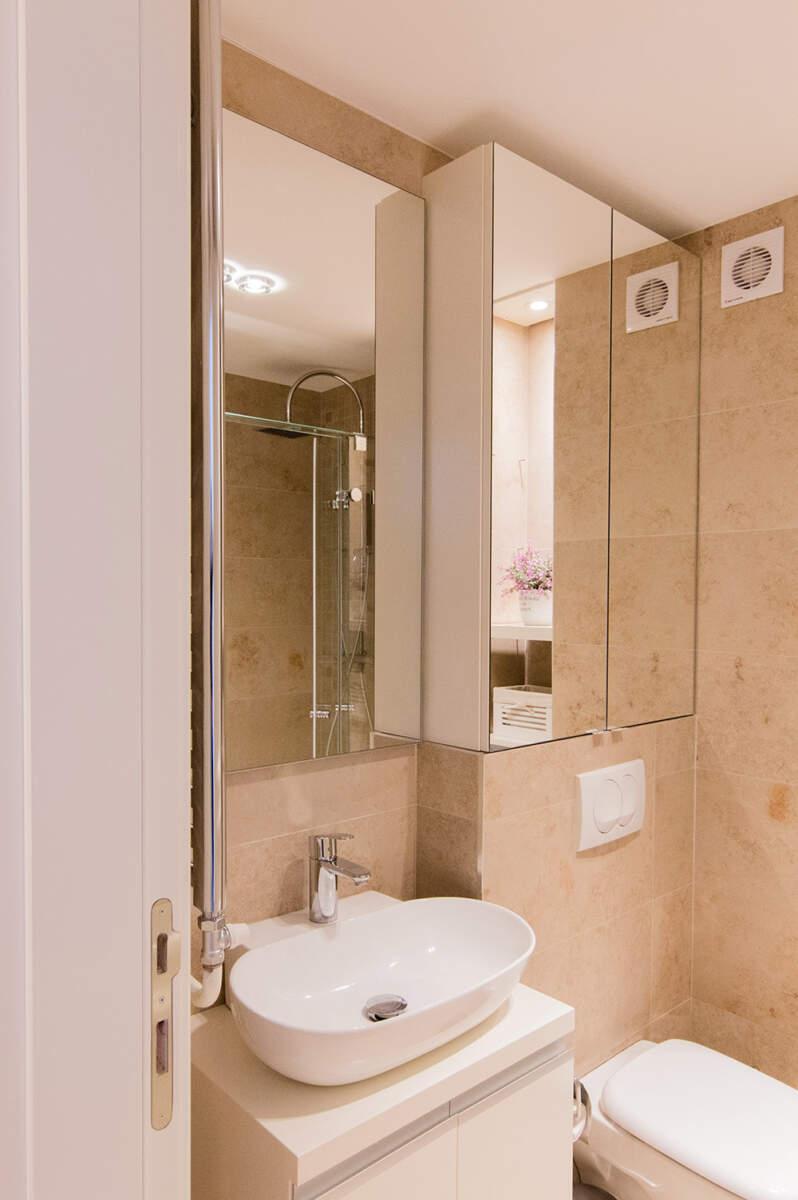 Keramika malo kupatilo je Pietra Jura Beige 30×60 cm. Proizvođač COEM