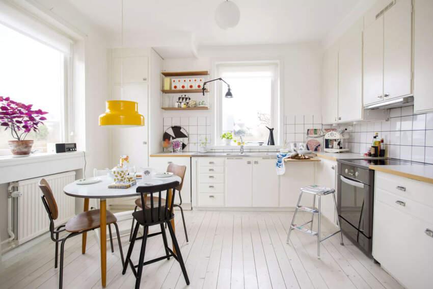 Belom obojeni pod ostavlja utisak popularnog, jednostavnog skandinavskog dizajna