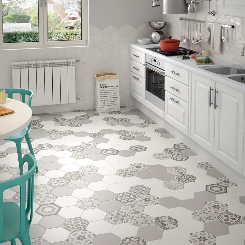 Vinil podne obloge u kuhinji - velik izbor različitih dezena i boja