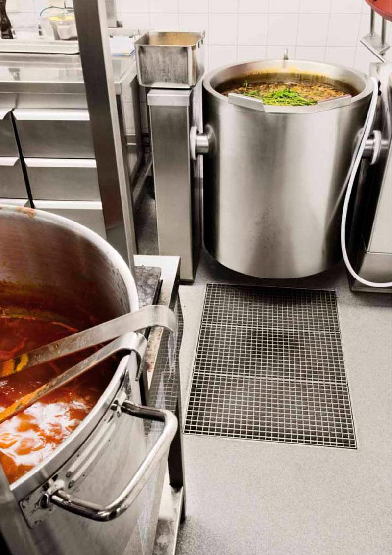 BLÜCHER® Odvodni sistemi od nerđajućeg čelika za profesionalne kuhinje
