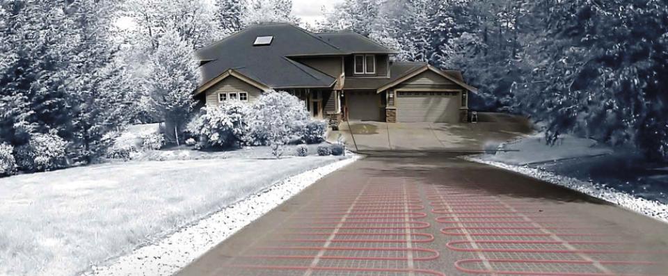 Električno podno grejanje za otapanje snega na kolskim prilazima i stazama