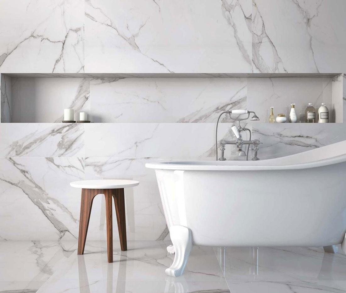 Elegancija granita i mermera u kupatilu