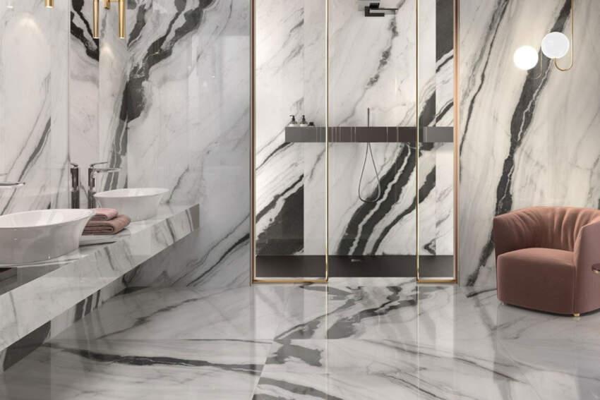 Mermerni podovi i zidovi u kupatilu