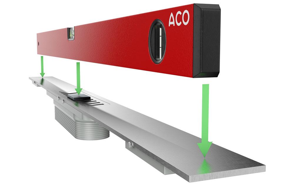 ACO ShowerDrainS+ funkcionalan dizajn