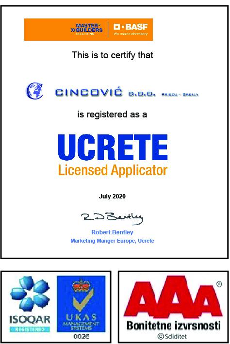 Cincović UCRETE sertifikati