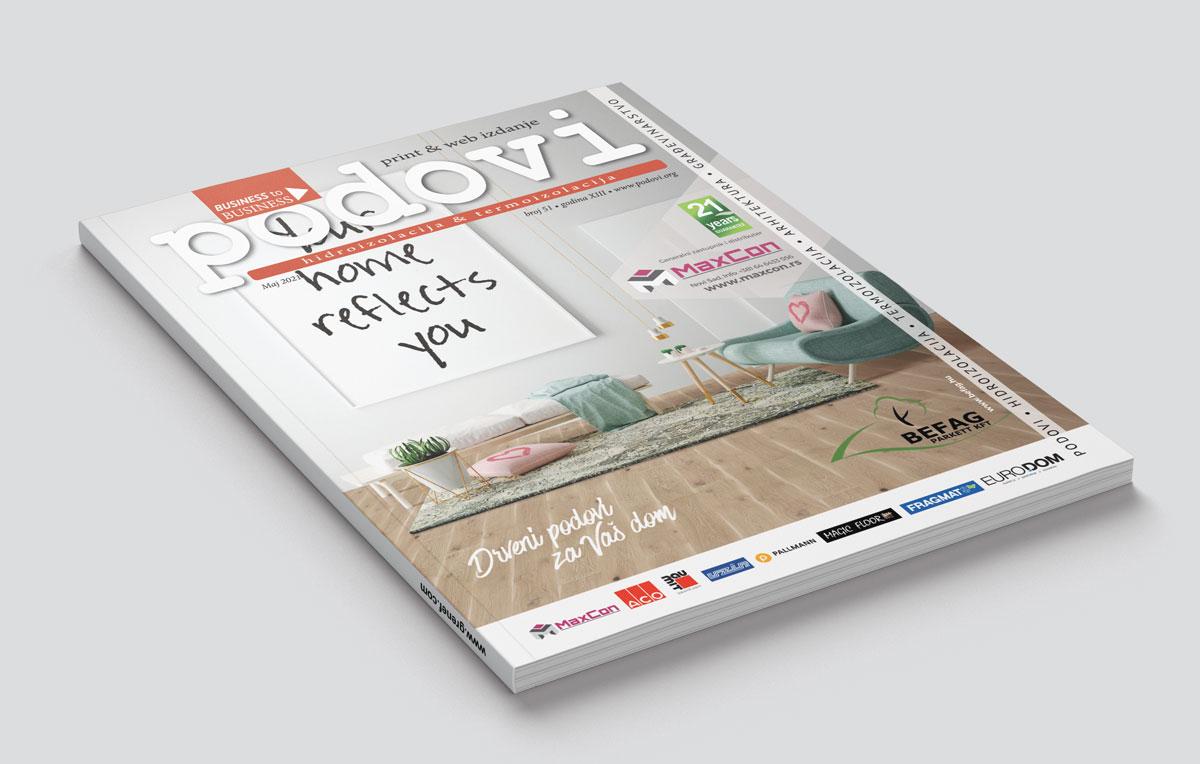 Časopis PODOVI - Hidroizolacija & Termoizolacija broj 51, maj 2021