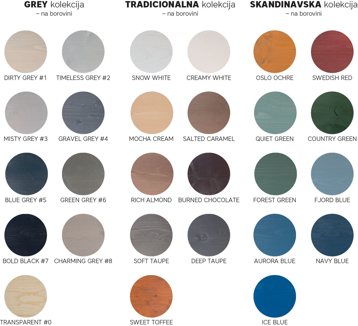 Rubio® WoodCream paleta boja