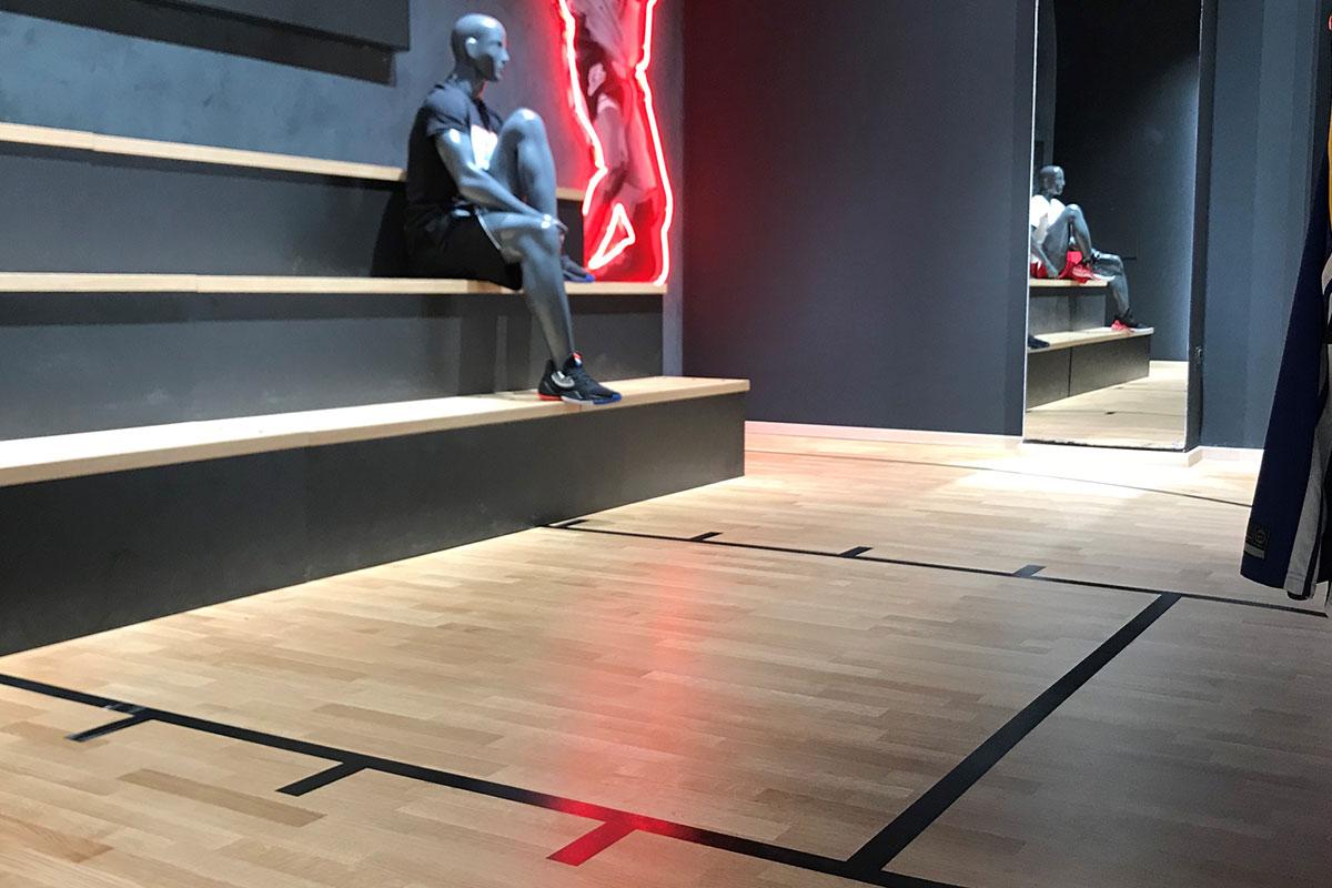 U Nike shop-u u Ada Mall-u postavljen je parket proizvođača Bjelin