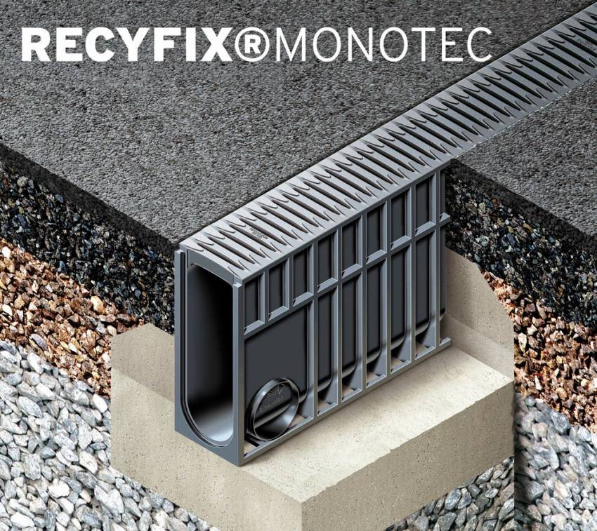 Novi monolitni sistem odvodnje RECYFIX®MONOTEC kanal / Hauraton